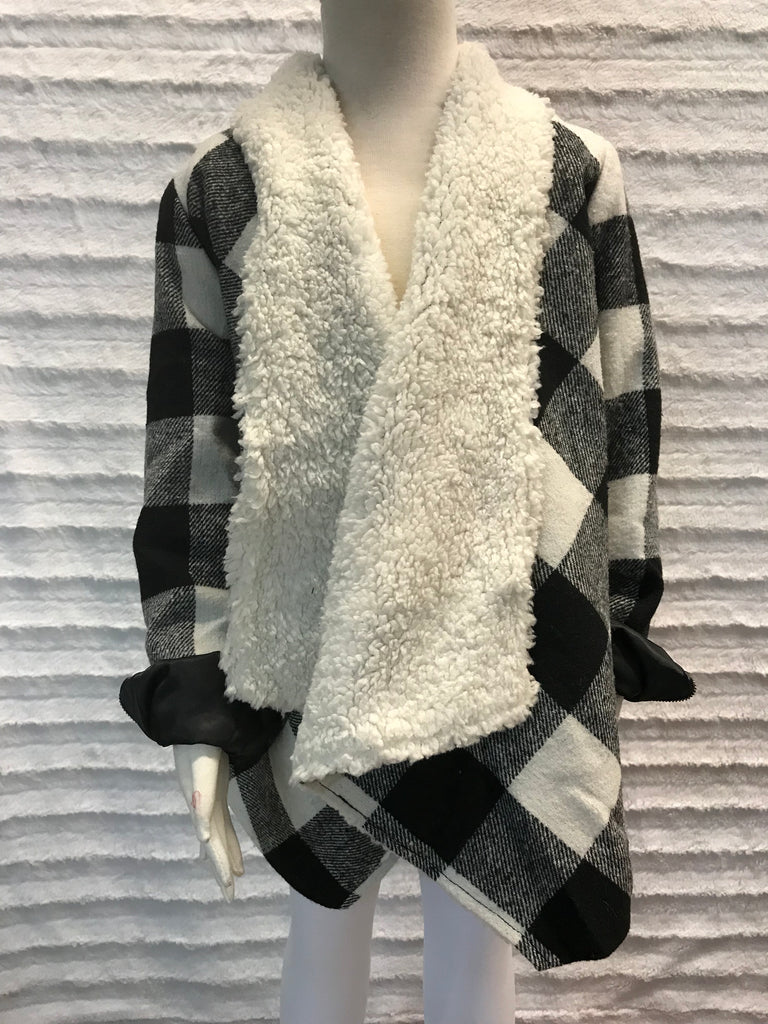 Checker Print Girls Jacket