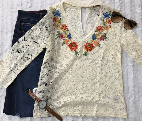 Crochet and Embroidery Meet