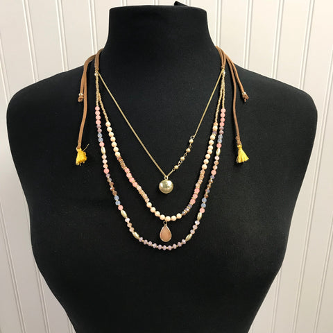 Beads & Tassels Necklace