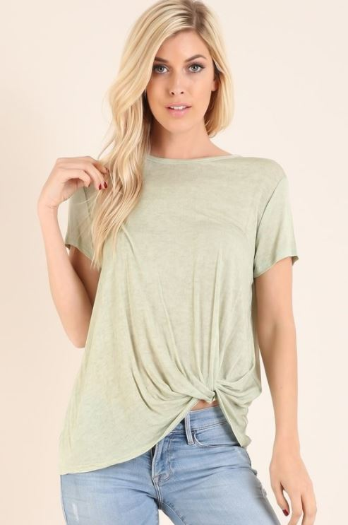 Twist Knot Solid Top