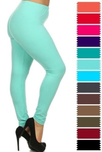 Super Soft Solid Plus Pant Length Legging