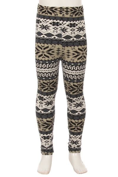 Sam Girl Snowflake Leggings