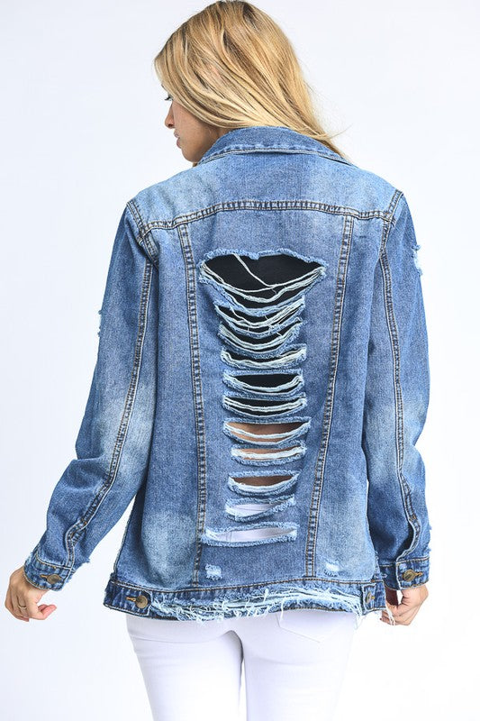 Shredded Rogue Denim Jacket