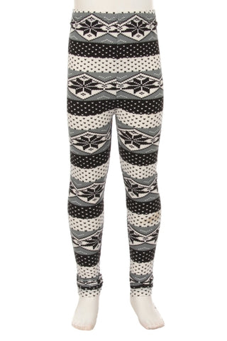White Winter Girl Leggings