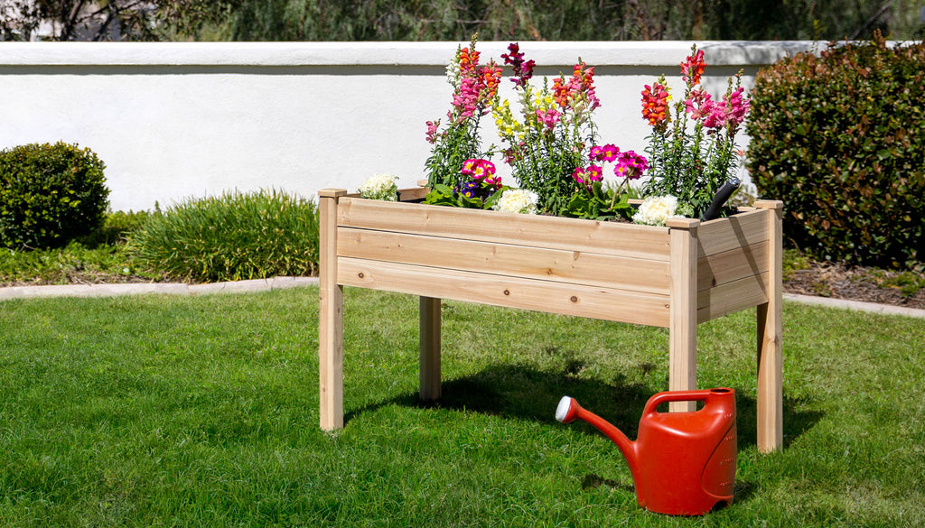 Raised Gardening Bed with Plants and Flower for Homesteading and Gardening