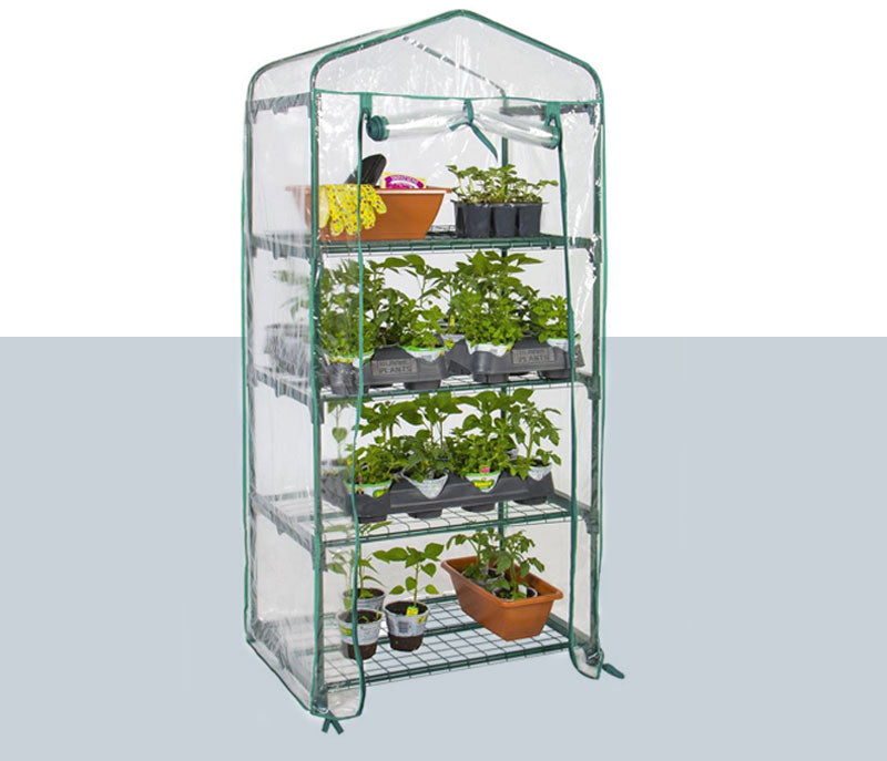 Mini greenhouse shelf for gardening and homesteading