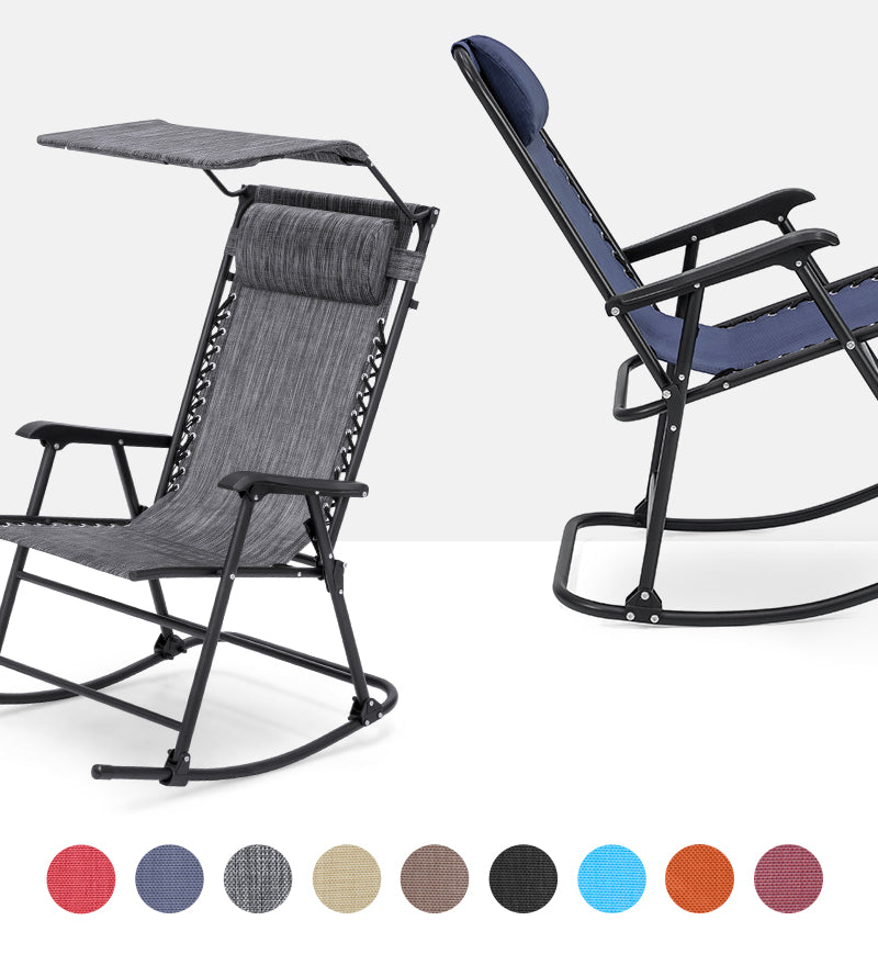 Rocking Zero Gravity Chairs Colors & Styles Collage