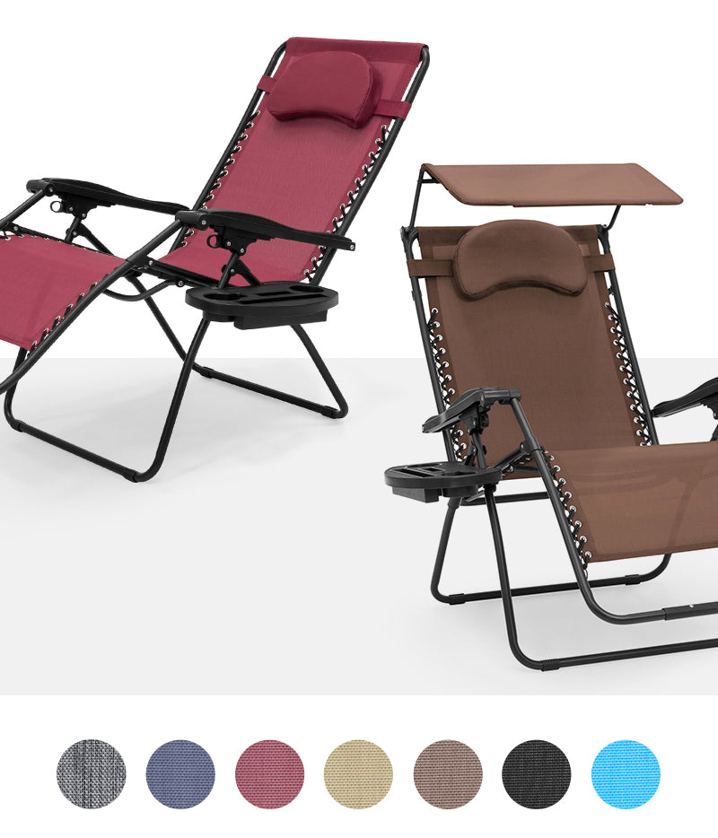 Extra-Wide Zero Gravity Chair Colors & Styles Collage