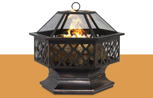 24in Hex-Shaped Fire Pit
