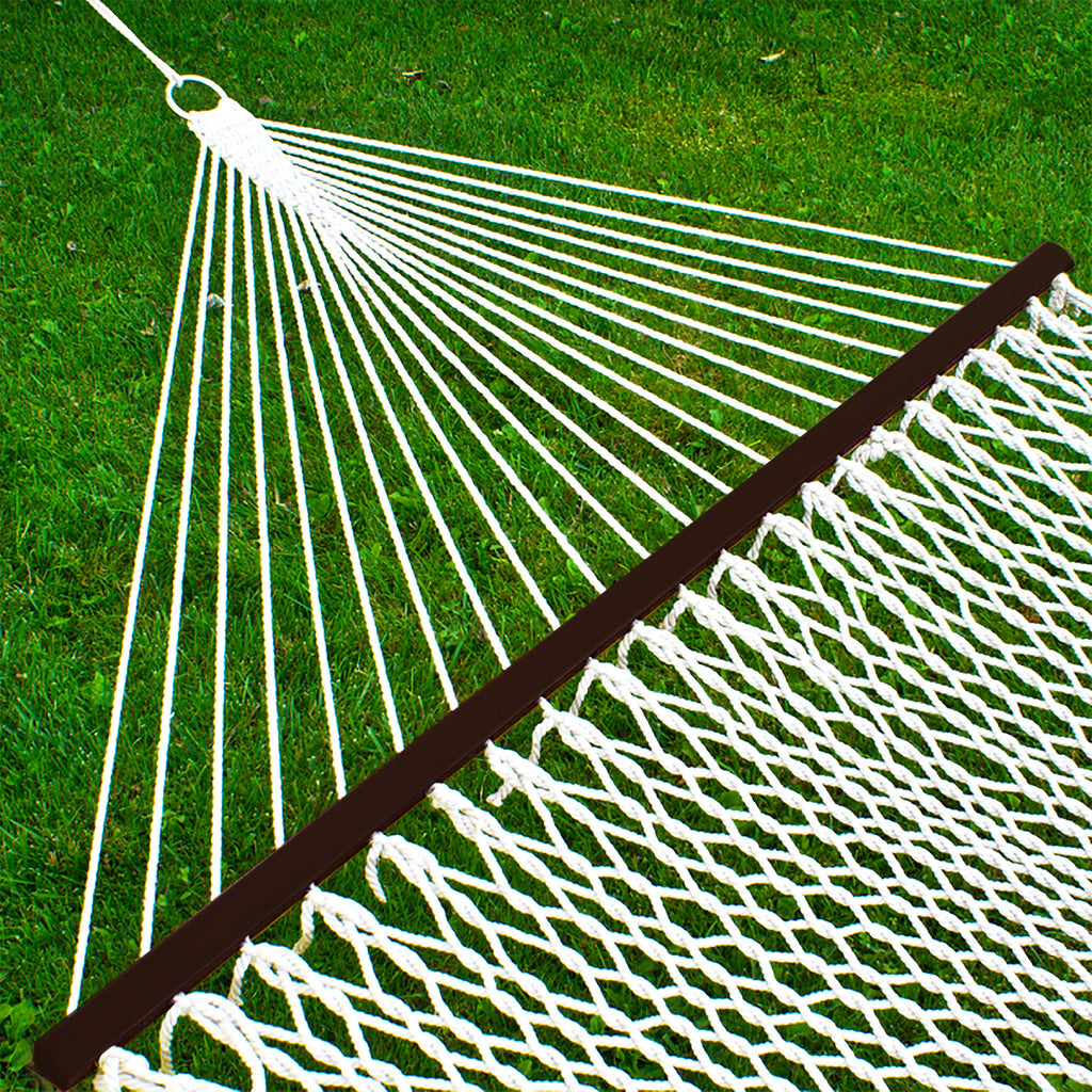 Cotton Rope 2-Person Double Hammock w/ Spreader Bars, Carrying Case