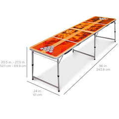 Beer Pong Table 8' Portable Folding Outdoor Indoor College Party New