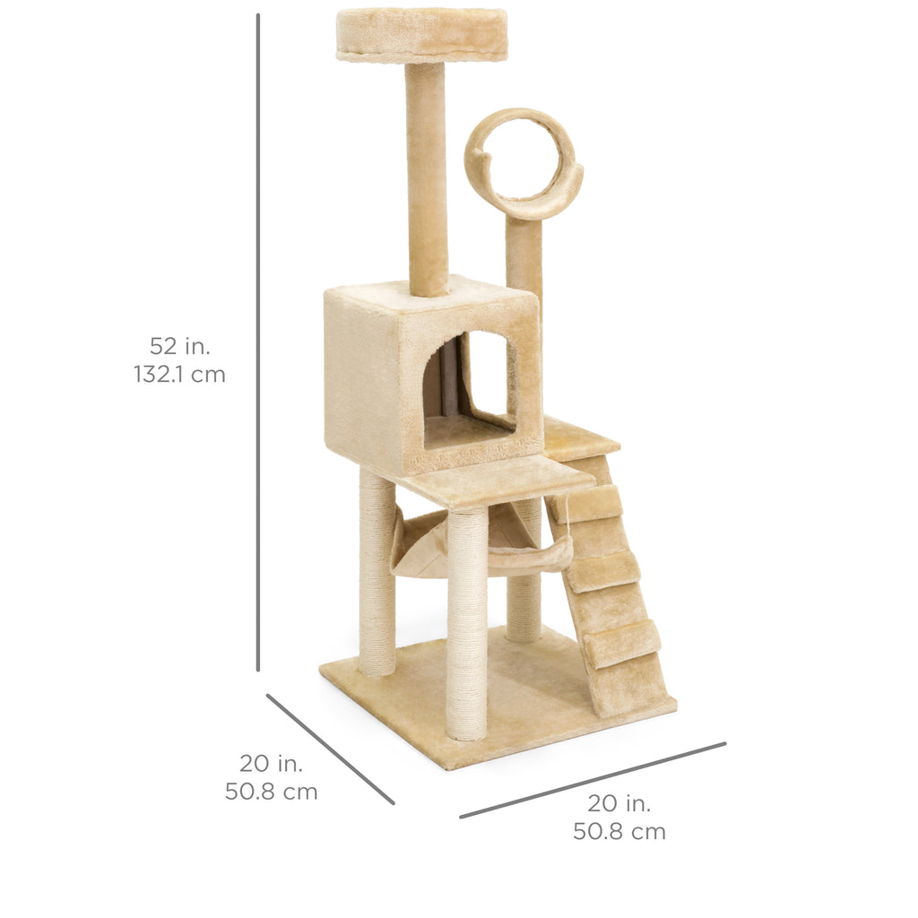52in Cat Tree Furniture - Brown