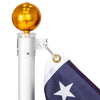 16ft Telescoping Aluminum Outdoor Flagpole w/ American Flag