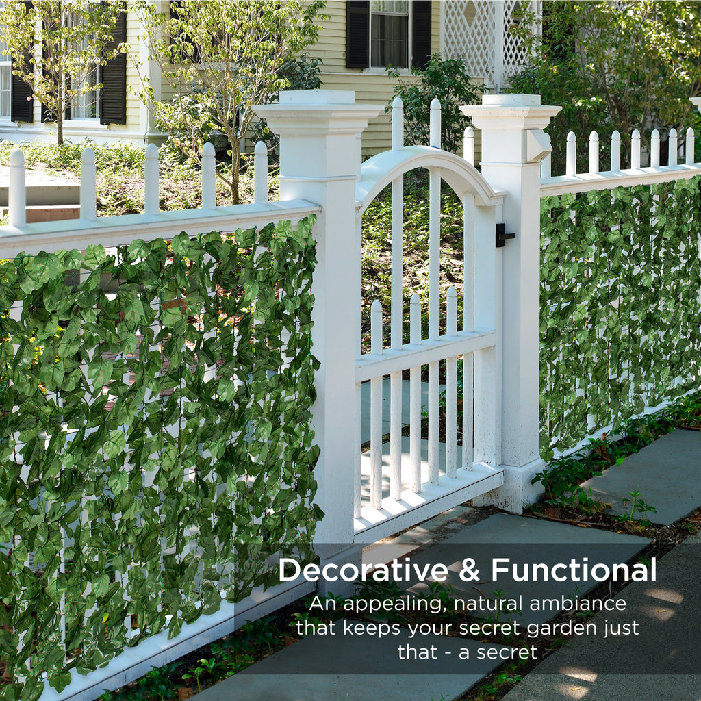 94x59in Outdoor Faux Ivy Privacy Screen Fence Decoration - Green