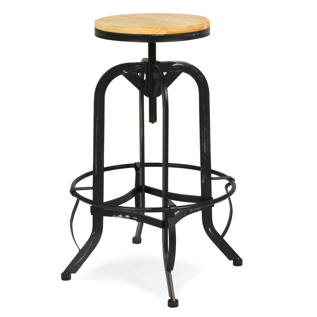 Vintage Bar Stool Industrial Metal Design Wood Top  : SKY1501LRG 11024x1024 from bestchoiceproducts.com size 1024 x 1024 jpeg 56kB