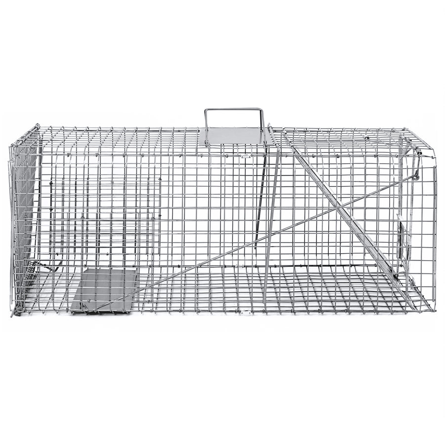 31x12x12in Live Animal Trap Cage - Silver