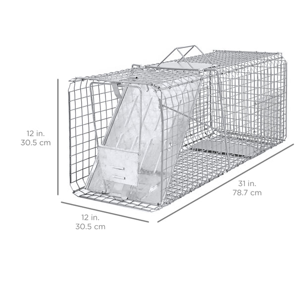 "Raccoon Skunk Poss Humane Animal Trap 31""x12""x12"" Cage Rabbit Cat Live"