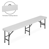Deals on 6ft Portable Plastic Folding Bench