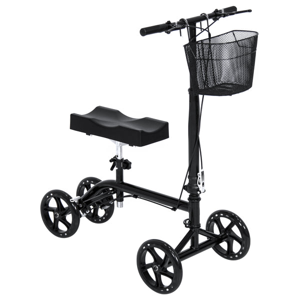 Rolling Knee Walker w/ Basket - Black
