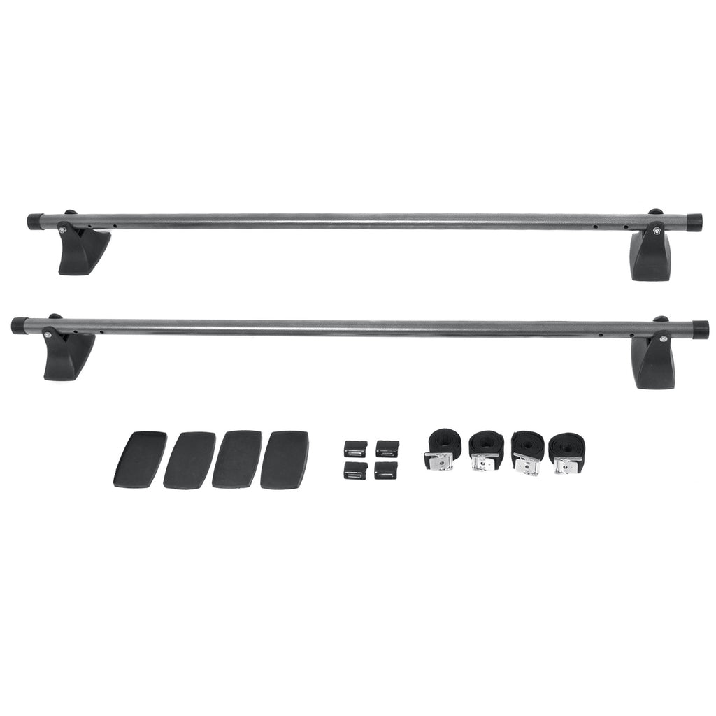 48in Adjustable Crossbar Cargo Luggage Rack - Gray/Black