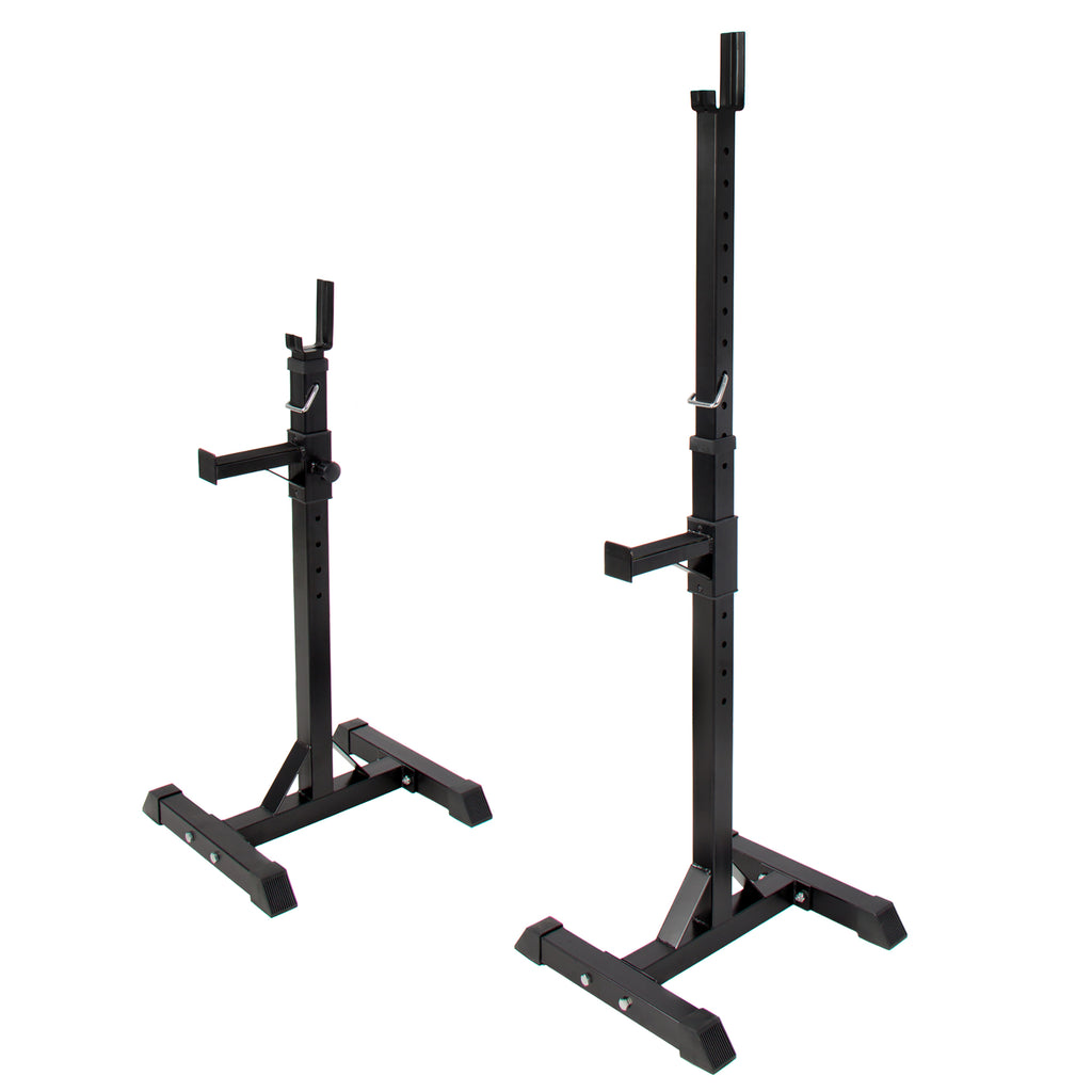 2-Piece Adjustable Barbell Rack - Black