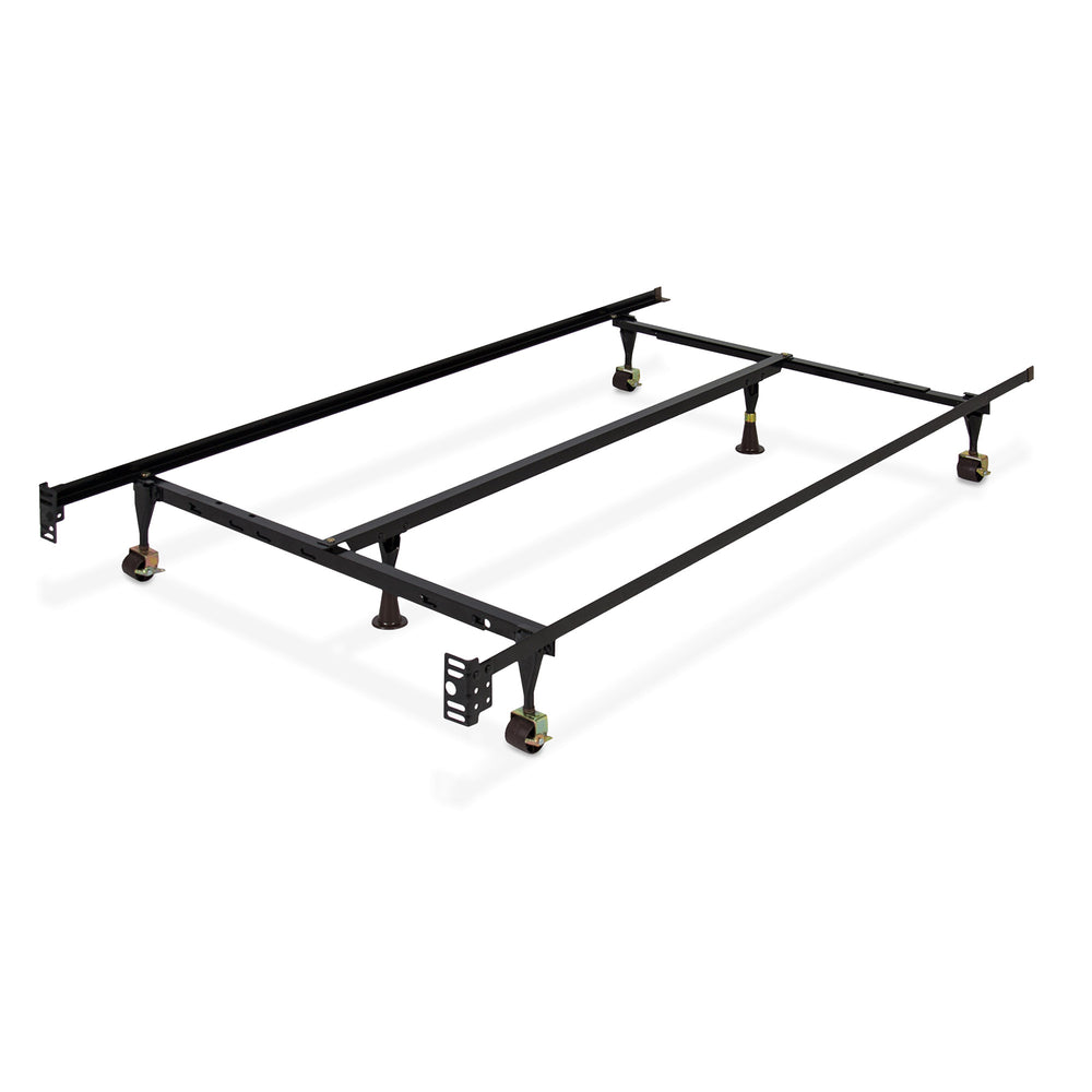 Adjustable Metal Bed Frame w/ Center Support – Best Choice Products