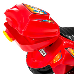 Kids 6V Ride On Motorcycle w/ 3 Wheels - Red