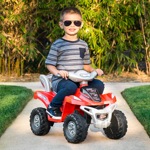 96d46c86f7e 6V Kids Electric ATV-Ride On Quad Toy w  4-Wheel Power Steering ...