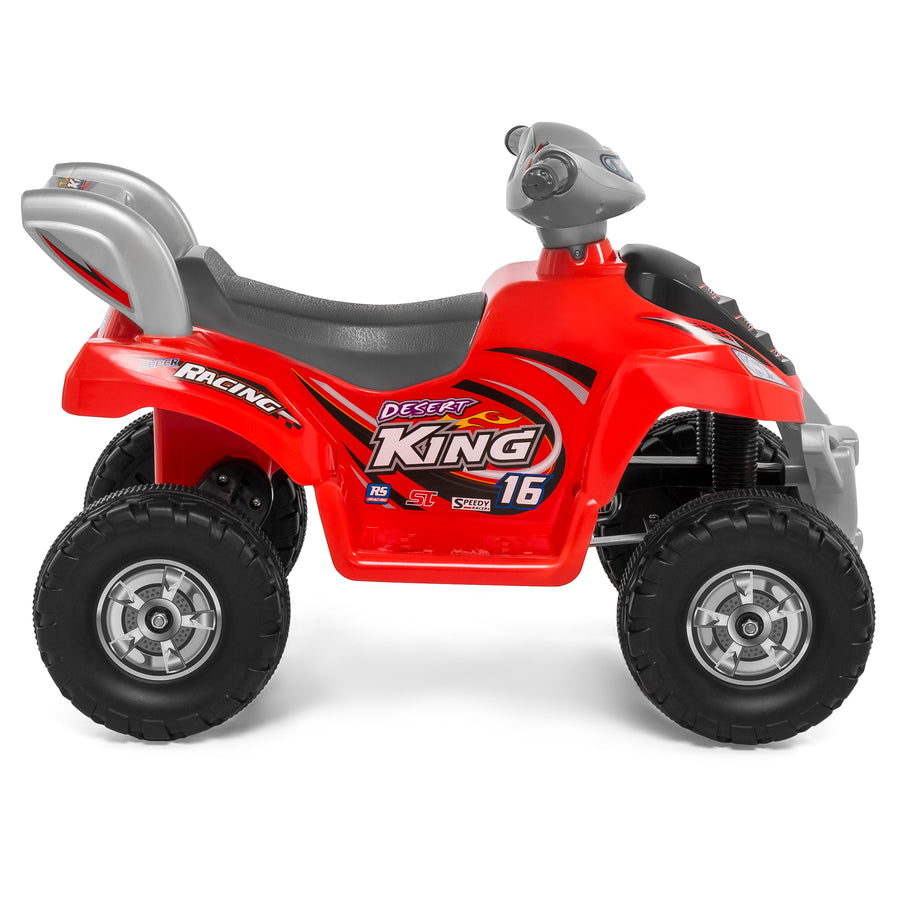 6V Kids Electric ATV Ride-On Toy w/ Treaded Tires - Red
