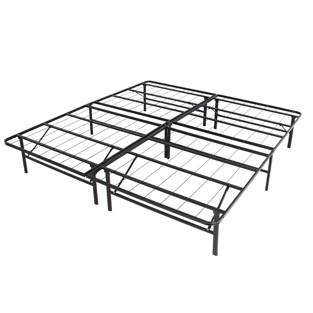King Foldable Metal Bed Frame
