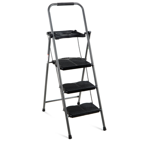 3-Step Folding Ladder w/ Tray