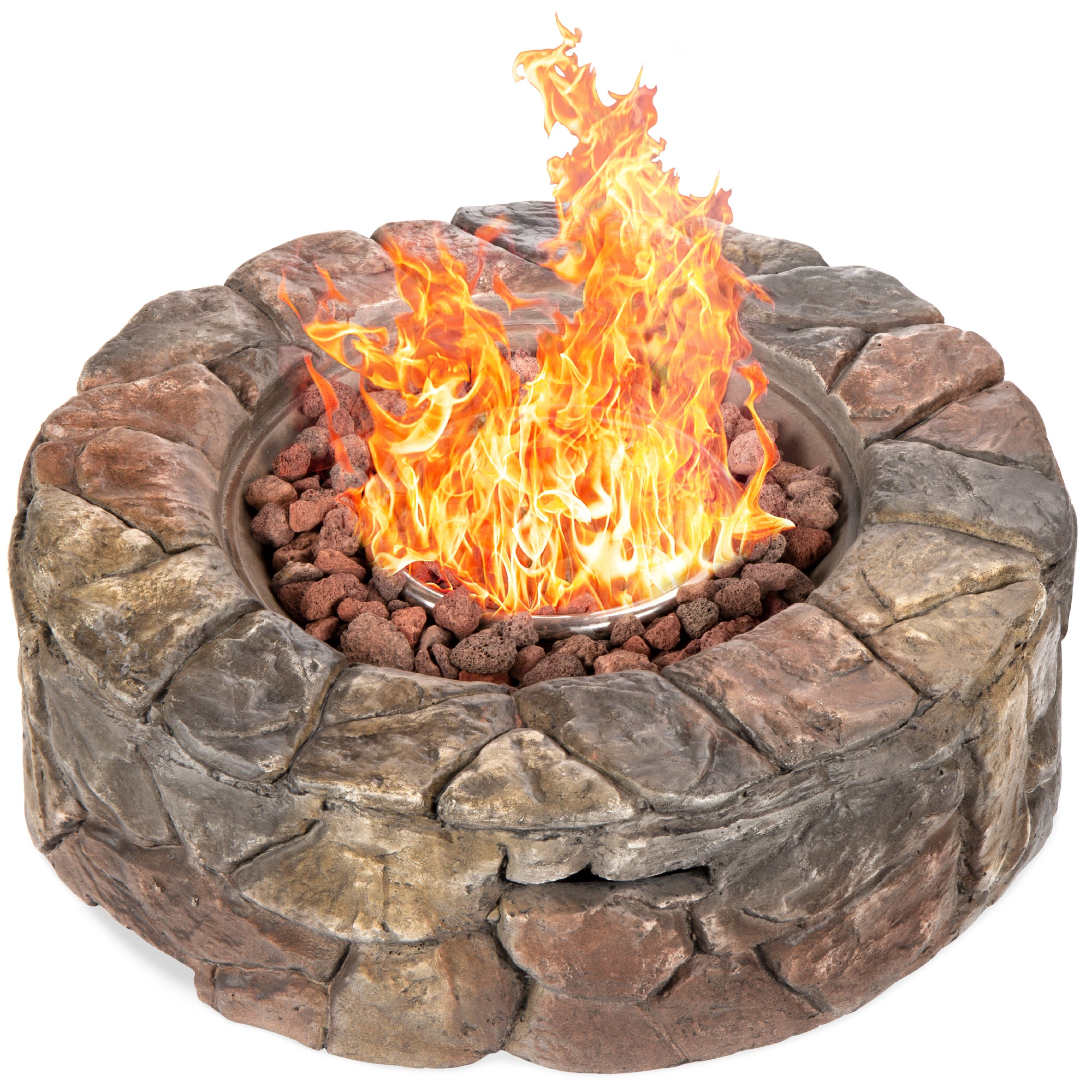 Stone Gas Fire Pit Best Choice Products