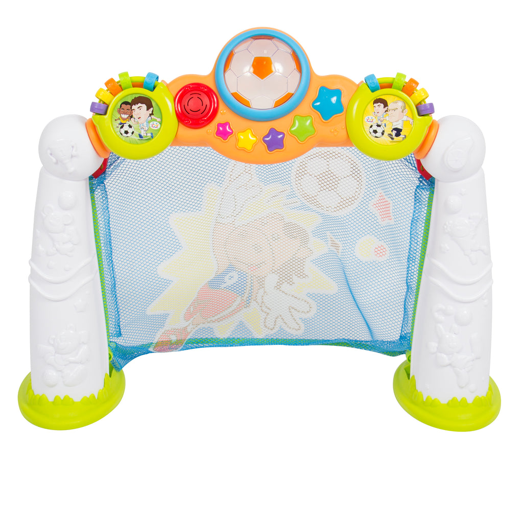 Toy Soccer Goal Scoring Game w/ 3 Modes and Ball - Multicolor