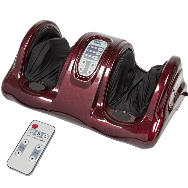 Shiatsu Foot Massager w/ Remote - Burgundy