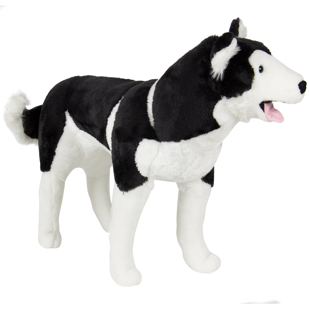 Realistic Large Husky Dog Wolf Plush Animal