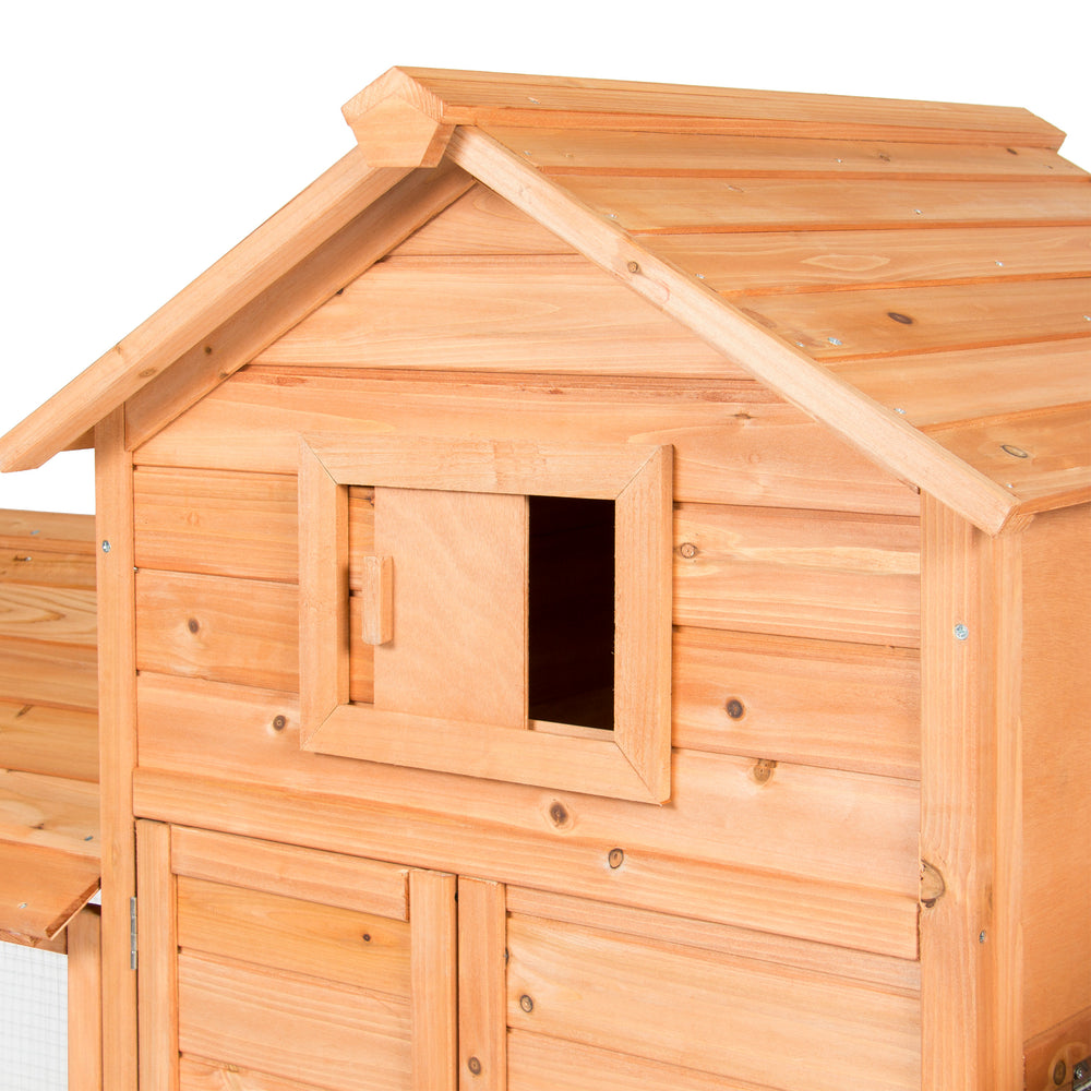 story chicken animal pet rabbit hutch hutches coop pawhut house wooden itm small