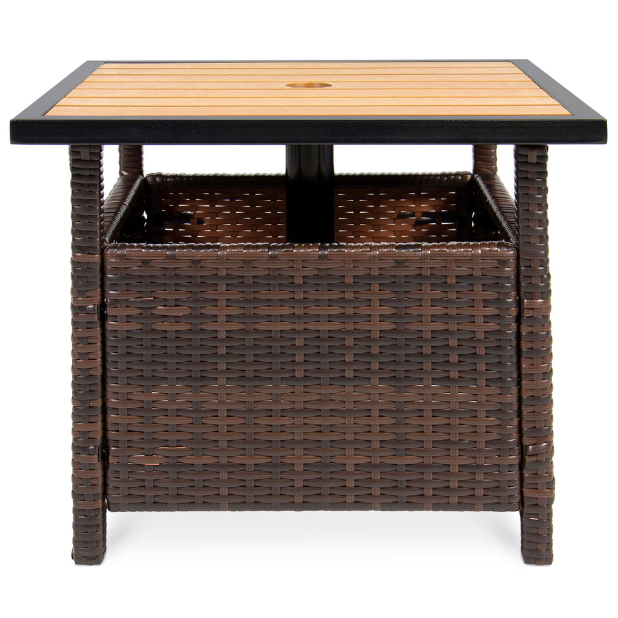Wicker Umbrella Stand Table Best Choice Products