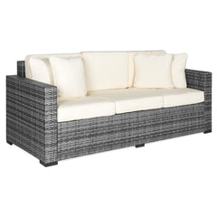 Etonnant 3 Seat Wicker Sofa W/ Cushions   Gray