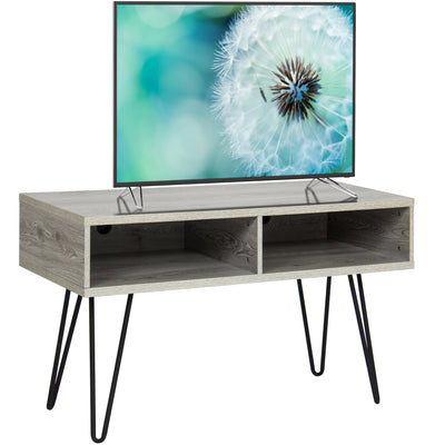 "Best Choice Products Entertainment 42"" TV Stand Media Console With Metal Hairpin Legs"