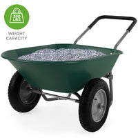Deals on Dual-Wheel Wheelbarrow Garden Cart