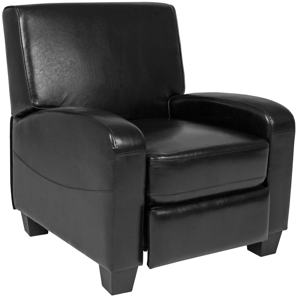 Faux Leather Recliner Chair - Black