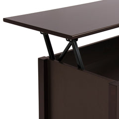 Modern Lift Top Coffee Table w/ Hidden Storage - Espresso