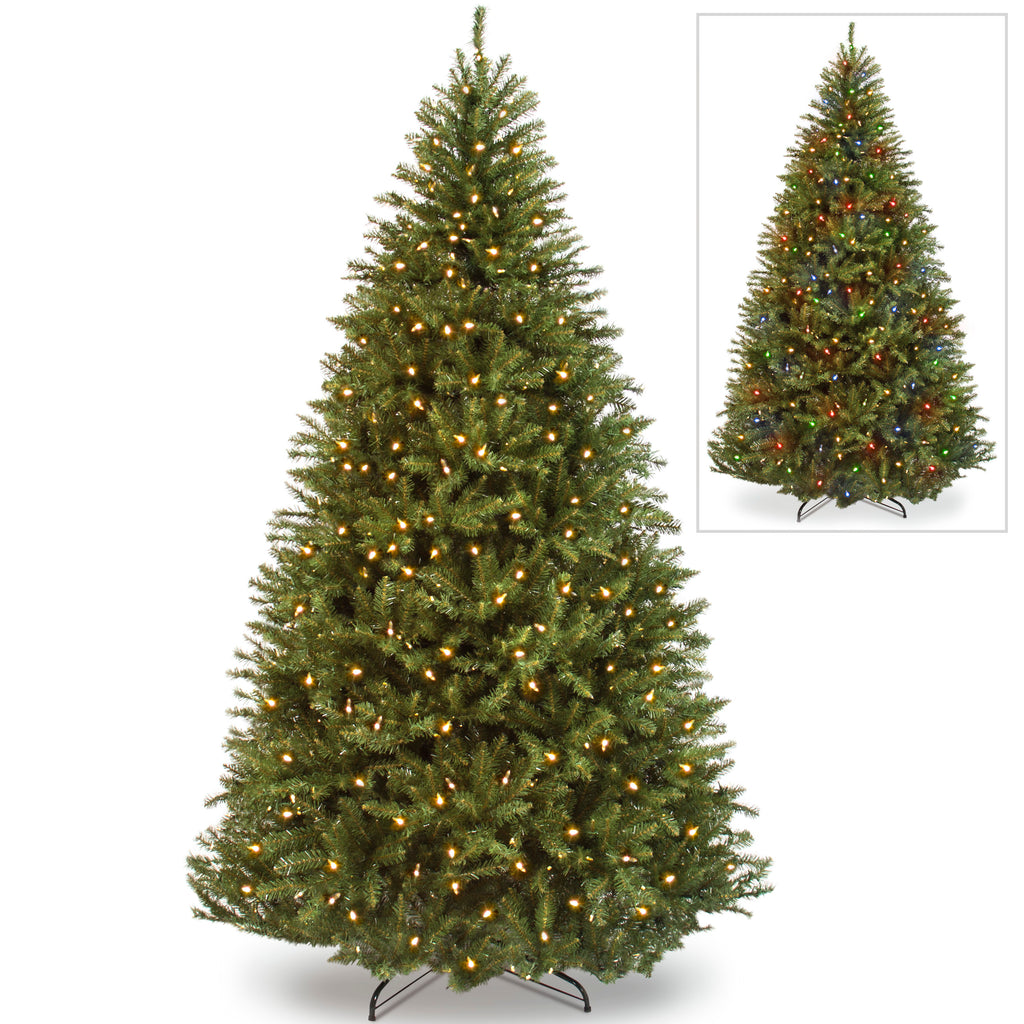 7.5ft Pre-Lit Fir 700 Light Hinged Artificial Christmas Tree w/Stand