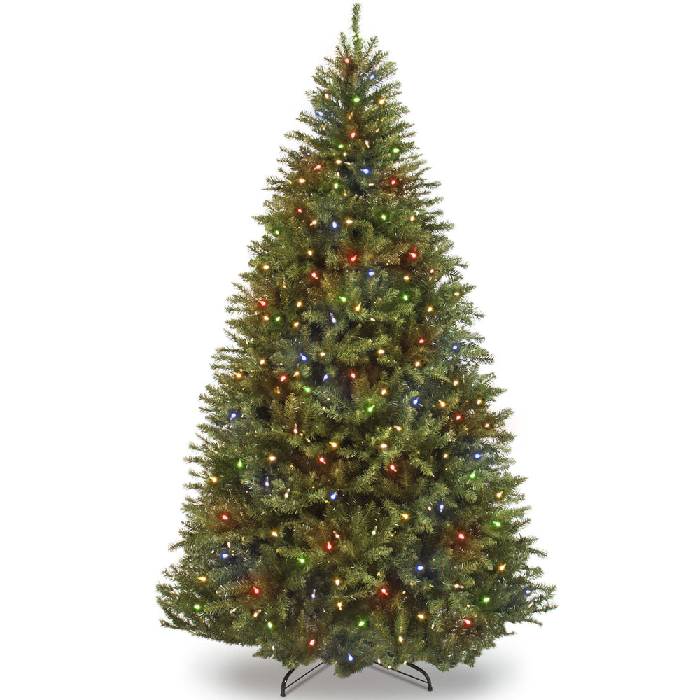 7.5ft Pre-Lit Fir 700 Light Hinged Artificial Christmas Tree w/Stand ...