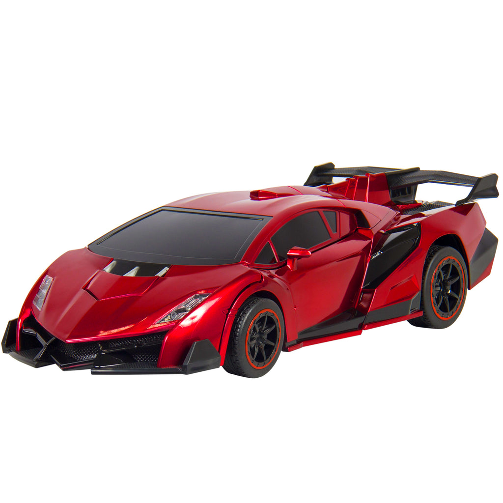 Best Choice Products Kids Toy Transformer RC Robot Car Remote Control Car- Red