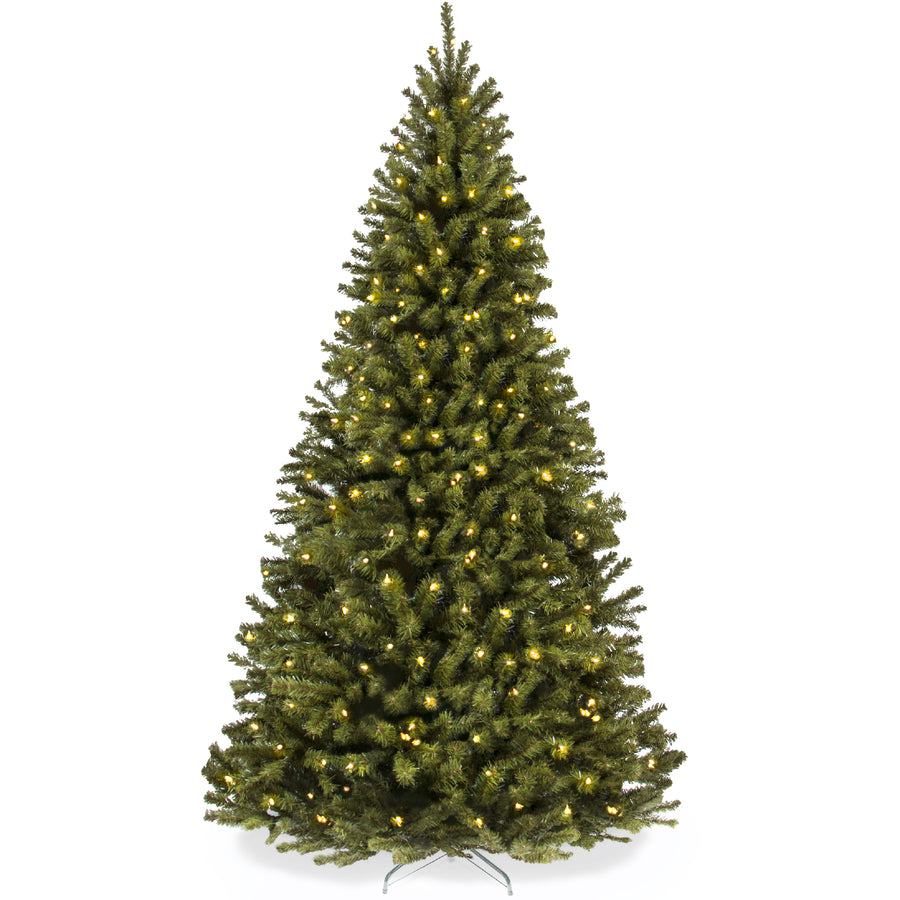 75ft Pre Lit Spruce Hinged Artificial Christmas Tree W Stand