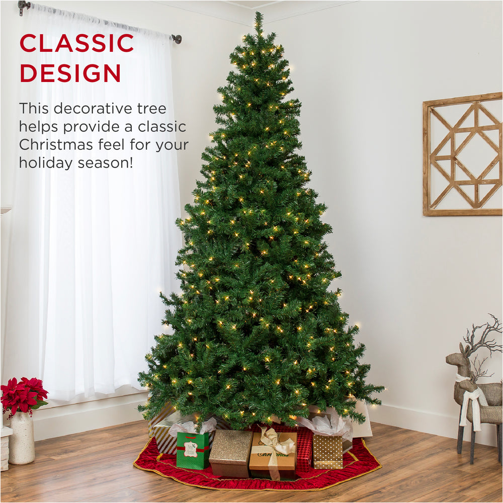 Pre-Lit Artificial Spruce Christmas Tree w/ Incandescent Lights