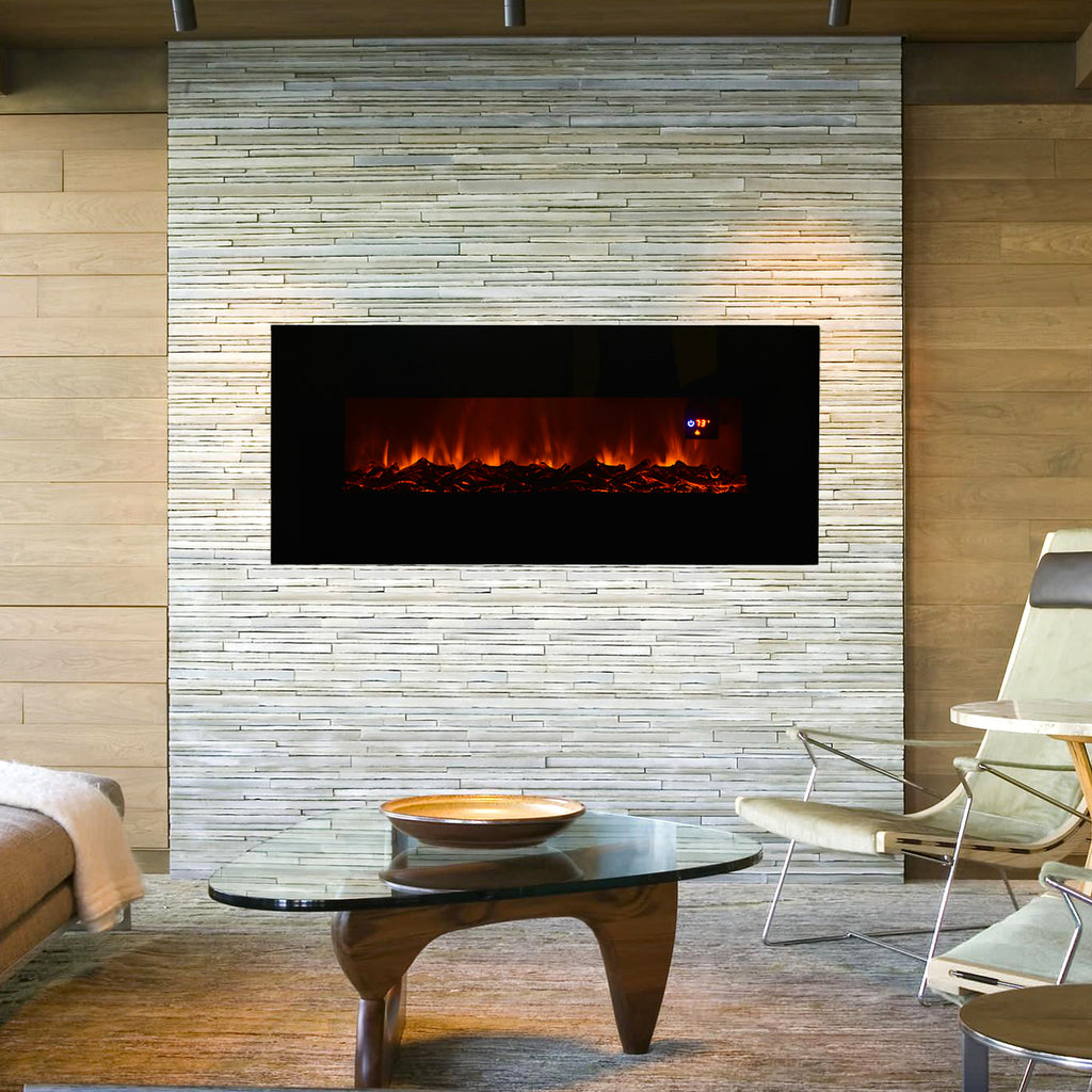 50 U0026quot  Wall Mount Electric Fireplace Heater  U2013 Best Choice