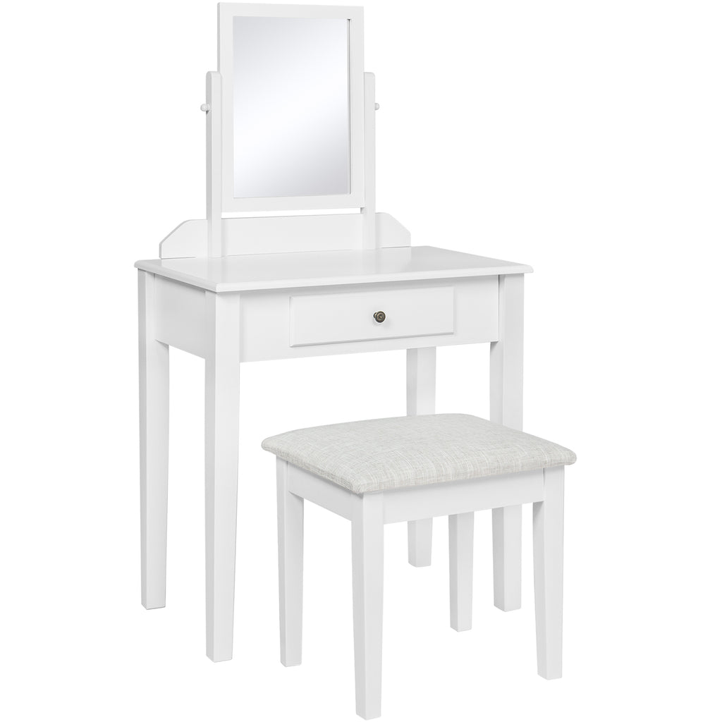 Bathroom Vanity Table Set w/ Stool