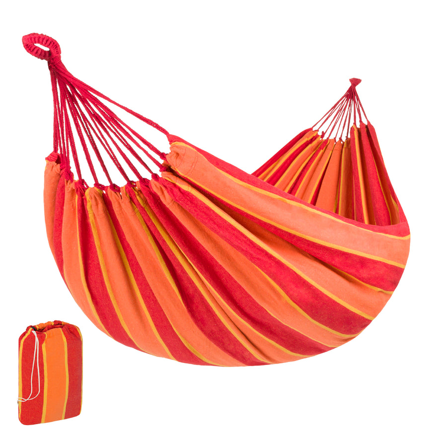 Brazilian 2-Person Double Hammock w/ Carrying Bag